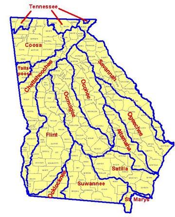 Georgia Maps - Georgia map savannah river